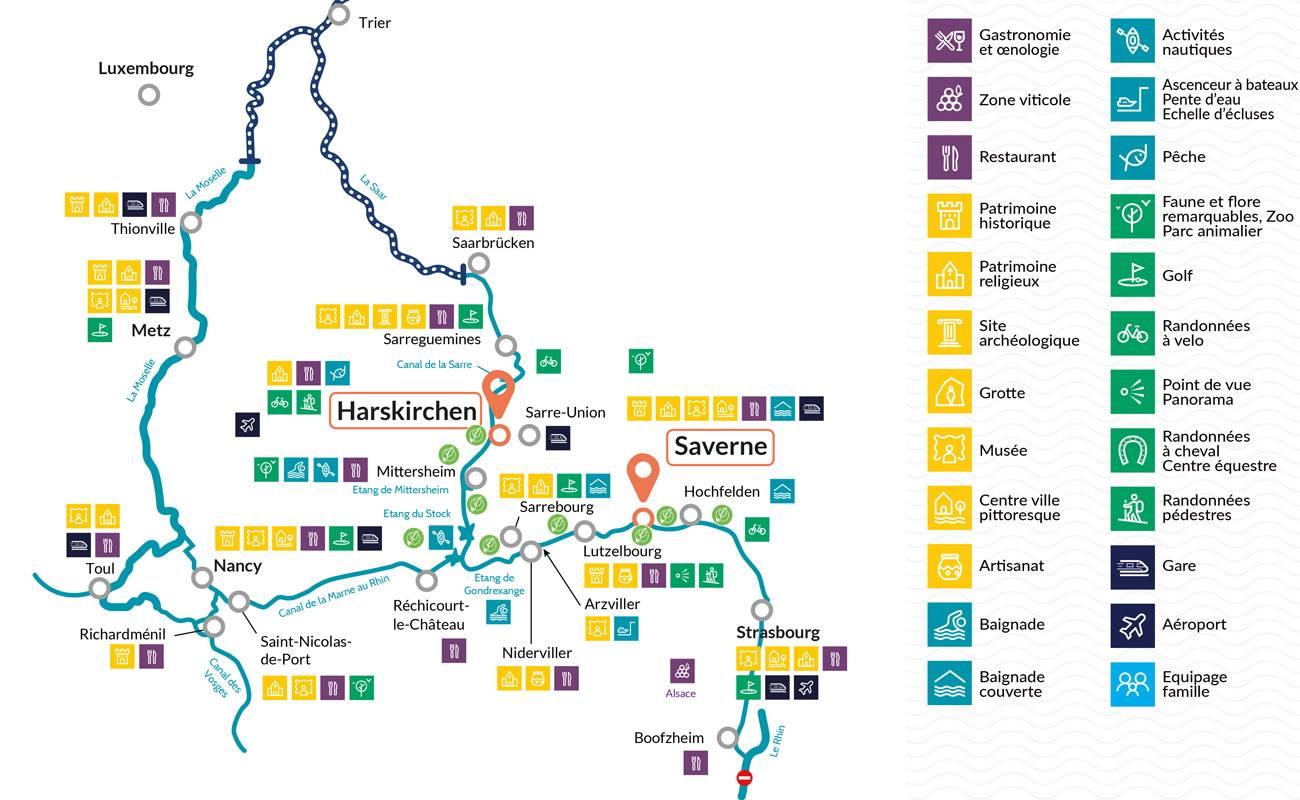 Carte Lalsace.Cap Vers Strasbourg Location De Bateau Au Cœur De L Alsace